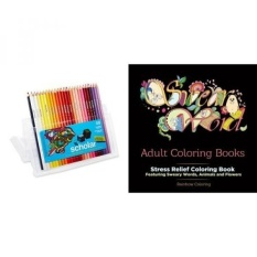 Swear Word Buku Mewarnai Dewasa: Stress Relief Coloring Book Menampilkan Sweary Kata-kata, Hewan dan Bunga dan Pensil Warna Prismacolor Gramedia, Set dari 48 Aneka Warna-Intl