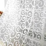 Toko Sweet Floral Tulle Voile Jendela Pintu Tirai Tirai Sheer Putih Oem