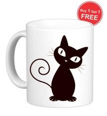 Jual Sz Graphics Gelas Mug Cat See You Putih Murah Dki Jakarta