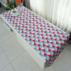 Table Runner / Taplak Meja - Triangle Tosca-Red