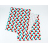 Table Runner Taplak Meja Triangle Tosca Red Murah