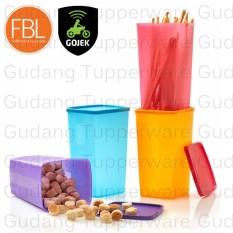 Jual Tupperware Tall Square Round 1Pcs Warna Acak Toples Tinggi Untuk Kue Tupperware Murah