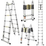 Ulasan Mengenai Tangga Teleskopik Lipat 2 5 2 5 5 Meter Alumunium Telescopic Ladder Tangga Teleskopik Multi Purpose Serbaguna Kualitas Terbaik