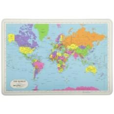 Tanpa Rasa Sakit Belajar Dunia Peta Tatakan-Internasional