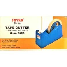 Tape Dispenser/ Cutter/ Tempat Isolasi Joyko TD-103 Dual Core