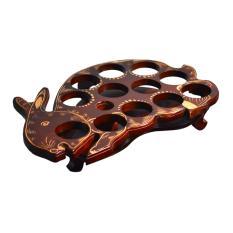 Tatakan Aqua Gelas Kayu Jati Model Kelinci