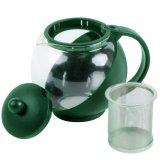 Toko Teapot 1250 Ml Hijau Teko Kaca Ceret Tempat Teh Saringan Stainless Tea Pot Green Termurah