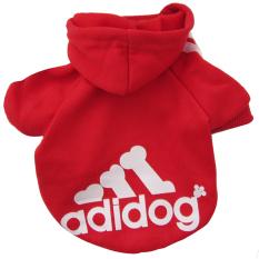 Harga Teddy Yang Soft And Hangat Indah Pet Anjing Pakaian Kulit Adidog Mantel Bulu Switer Berkerudung Merah L New