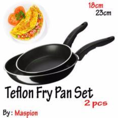 Teflon FryPan Set 2in1 18CM DAN 23CM / WAJAN MURAH By MASPION