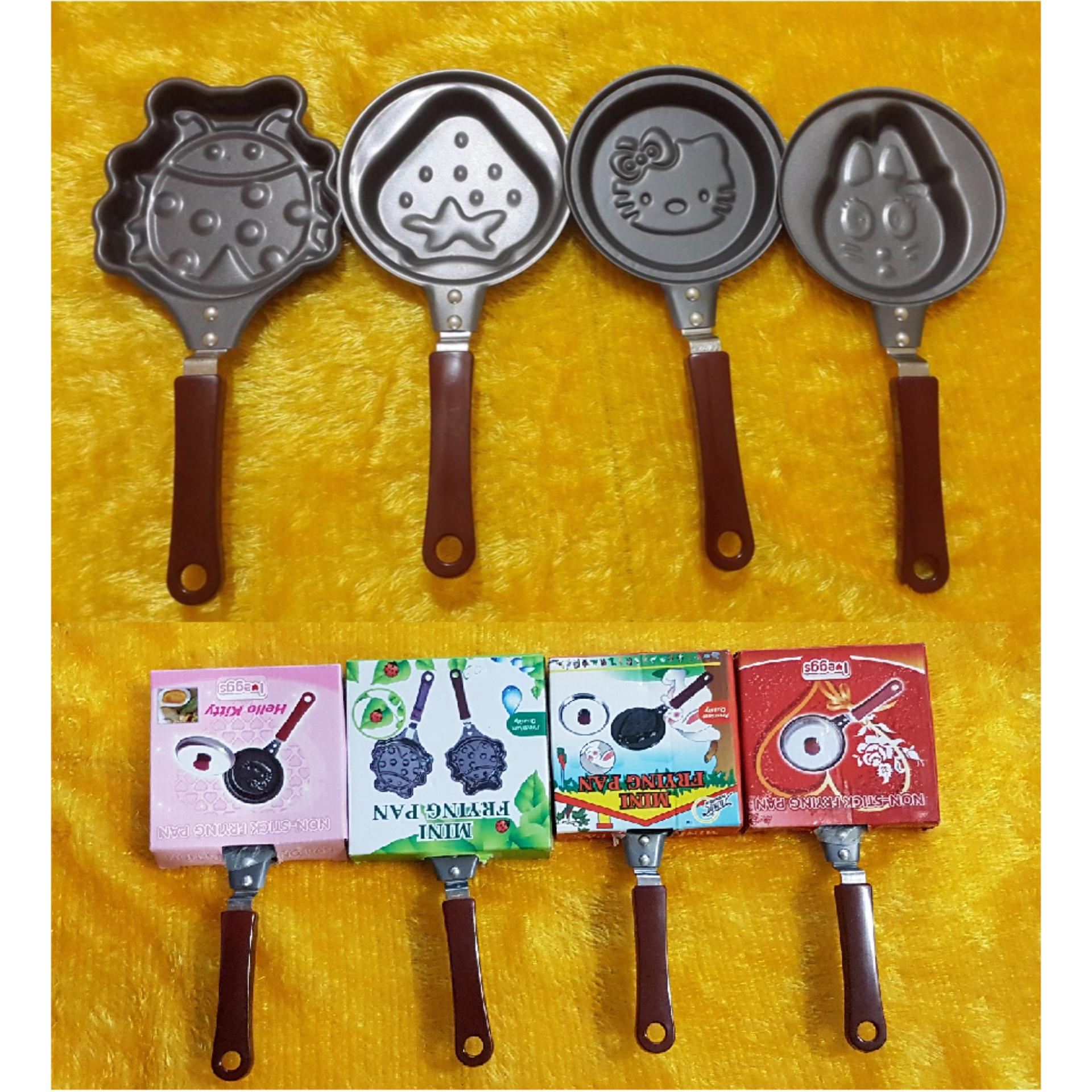 Teflon Mini Non Stick Frying Fry Pan / Wajan Anti Lengket karakter/mawar88shop