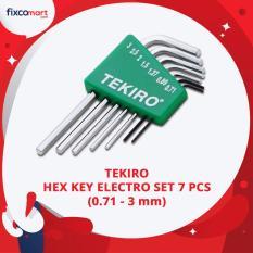 Tekiro Kunci L Set Elektronik 7 Pcs (0.71 - 3 mm) / Tekiro Hex Key Electro