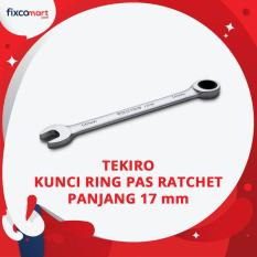 Tekiro Kunci Ring Pas Ratchet Panjang 17 mm / Single Gear Wrench