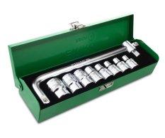 Tekiro Kunci Sok 1 2 Inchi Set 10 Pcs 8 24 Mm 12Pt Box Metal Promo Beli 1 Gratis 1