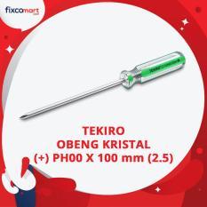 Tekiro Obeng Kristal (+) PH00 X 100 mm (2.5) / Obeng Plus / Obeng Kembang