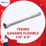 Spesifikasi Tekiro Ratchet Handle Flexible 1 4 X 6 Inch Gagang Ratchet Felxibel Bagus