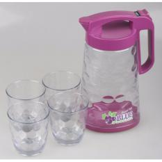 Obral Teko Air 565 Anti Bocor 4 Cangkir Set Pitcher Kettle Tea Coffee Pot Leak Proof Ungu Murah