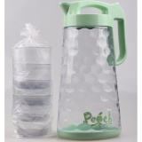 Jual Teko Air Set 564 Teko 4 Cangkir Anti Bocor 564 Pitcher Kettle Cup Tea Coffee Pot Leak Proof Hijau Yooyee Ori