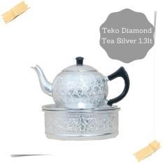 Teko Diamond Tea Silver 1,3lt/Teko Zam-zam/Oleh-oleh Haji