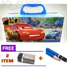 Tempat / Kotak Pensil  Karakter CARS  Dengan Kode  (COWOK - CEWEK)  + FREE Penghapus + Pensil.