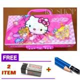 Review Terbaik Tempat Kotak Pensil Karakter Hello Kitty Dengan Kode Cewek Free Penghapus Pensil