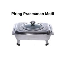 Tempat Makan Prasmanan Motif 555 + Packing Box - Silver By Paling Laku.