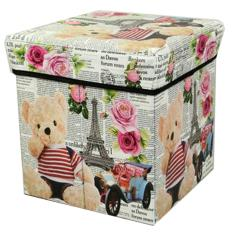 Toko Tempat Menyimpan Barang Mainan Buku Majalah Container Wadah Penyimpanan Multifungsi Box Organizer Serbaguna Bear Rose Termurah