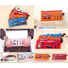 Tempat Pensil I Love London / Pencil Case I Love London - Random