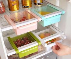 Tempat penyimpanan makanan praktis susun organizer kulkas HHM445 Terbaru