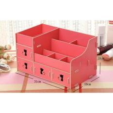 Kotak Laci Rak Sekat Perlengkapan Peralatan Aksesoris Perangkat Perkakas Barang Barang Perbekalan Rias Dandan Solek-Make Up-Kosmetik Besar Cosmetic Storage Box,Creative Desktop Storage Box