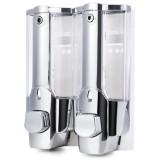Review Toko Tempat Sabun Cair Untuk Cuci Tangan Dispenser Sabun Double Tube 2 Tabung Sabun Dan Shampo
