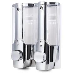 Jual Tempat Sabun Cair Untuk Cuci Tangan Dispenser Sabun Double Tube 2 Tabung Sabun Dan Shampo The Dispenser Di Indonesia