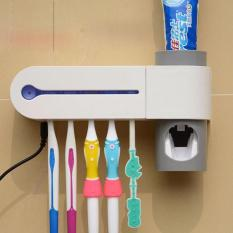 Tempat Sikat Gigi & Dispenser Odol Antibacteria UV Light