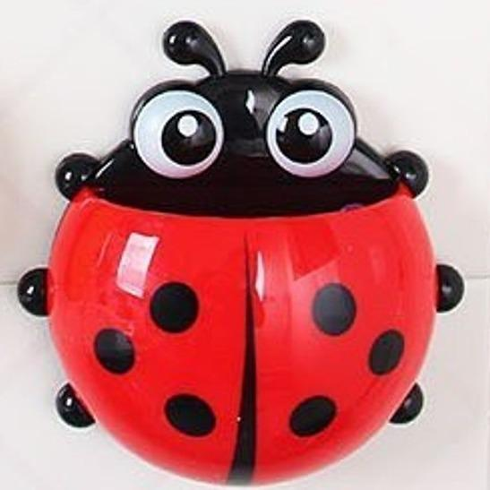 Tempat Sikat Gigi Odol Kumbang - Lady Bug Tooth Brush Holder (A168)