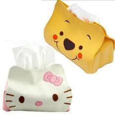 Tempat Tissue Sanrio H.Kitty dan Pooh / Tempat Tissue Lucu - 1Pcs