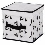 Tips Beli Tenice Storage Box With Lid Rope Handle S Putih