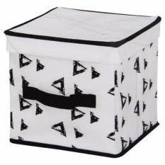 Tips Beli Tenice Storage Box With Lid Rope Handle S Putih