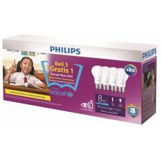 Toko Terangi Masa Depan Lampu Philips Ledbulb 8W E27 Putih Beli 3 Gratis 1 Philips Online
