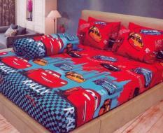 Terbaru Bed Cover Set Lady Rose Cars No.1 King 180 Sprei Bantal