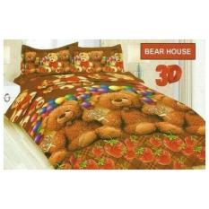 Terbaru Sprei Bonita Bear House King 180X200 B4 Seprai Sprai Sepray