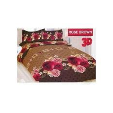 Terbaru Sprei Bonita Rose Brown No.1 King 180 Seprai Coklat Mawar