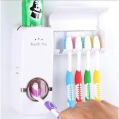 Katalog Terlaris Dispenser Odol Toothpaste Dispenser Brush Set Putih Touch Me Terbaru