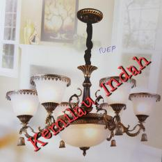 TERLARIS!!! Lampu Gantung Modern Antik Kaca 6 3 741/ lampu gantung / lampu gantung led / lampu gantung ruang tamu / lampu gantung minimalis / lampu gantung kristal / lampu hias