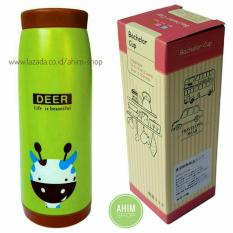 Review Termos Botol Minum Deer Random Stainless Steel Exclusive Box Bachelor Cup Hijau Coklat Ahim