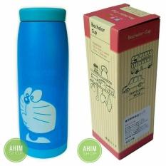 Termos Botol Minum Doraemon / Random Stainless Steel + Exclusive Box Bachelor Cup (Biru)