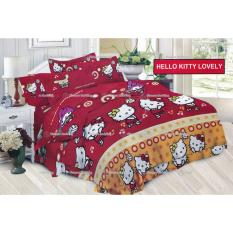 Jual Termurah Sprei Bonita Motif Hello Kitty Lovely King Size 180 Bonita Original