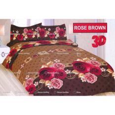 Cuci Gudang Termurah Sprei Bonita Tipe Rose Brown King Size 180