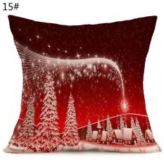 Natal Pola Meriah dari Mobil Di Sofa Pillow Covers (Tidak Termasuk Bantal)-Intl