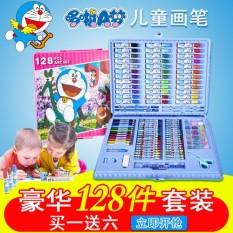 Doraemon Seni Mengirimkan 128 Kuas Warna Air Pulpen Lukisan Setelan Belajar Hal Kotak Hadiah Alat Tulis Hadiah Ulang Tahun internasional