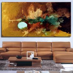 Ruang tamu yang paling terkenal lukisan abstrak seni lukisan dinding untuk ide-ide dekorasi rumah cetak di atas kanvas lukisan cat minyak tanpa bingkai - International