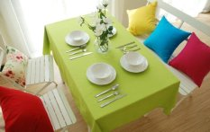 Taplak Meja Kain Modern Minimalis Plain-kanvas Berwarna Kualitas Katun Meja Makan Warna Meja, Taplak Meja Rectangle Konferensi Besar, Merah, 140*200 Cm Taplak Meja-Internasional